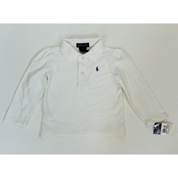ace4b79cb ... official store ralph lauren white long sleeve polo girls 4bbda d2d53